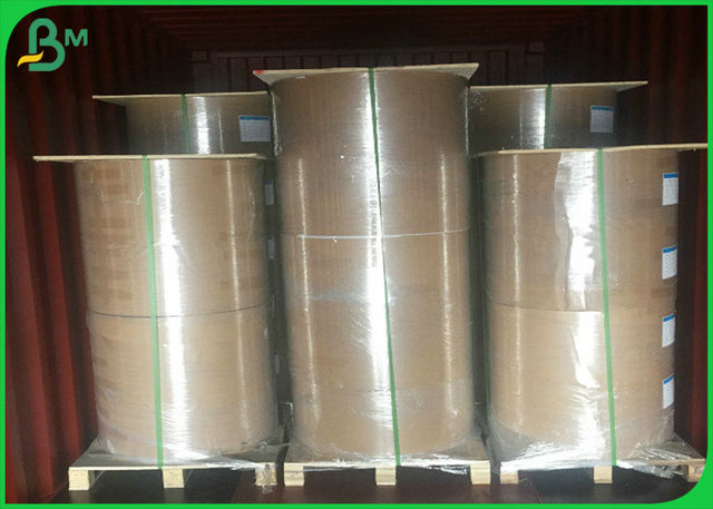 PE Coated Food Packing Paper / PE Coated Brown Kraft Paper With FDA certification